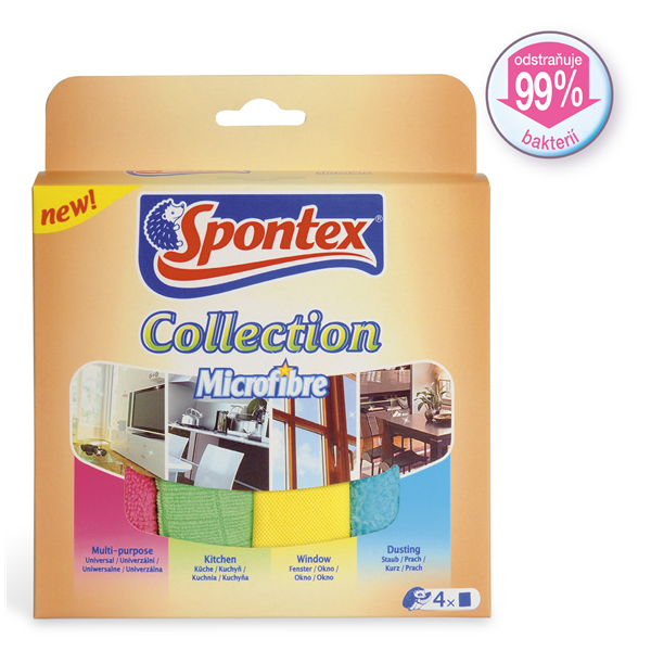 Spontex Mikroutěrka Collection 4 ks
